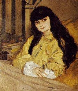 JEAN DE GAIGNERON Portrait d'Anna de Noailles -1910